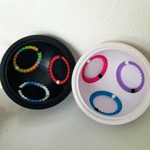 The Lokai Pact Ball Set 6 Bracelets Rainbow Blue